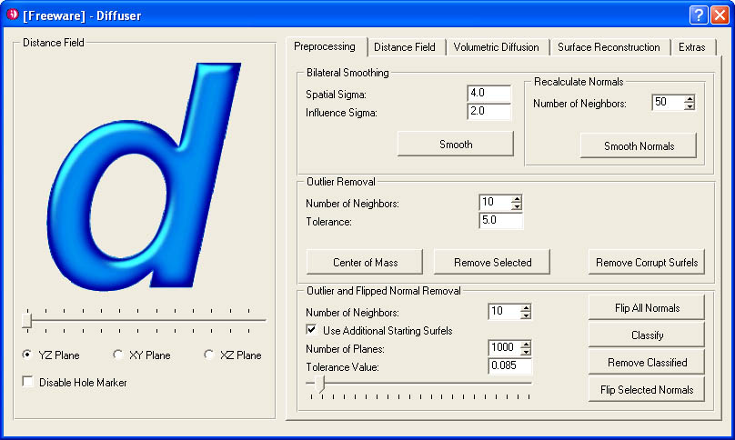 PointShop3D - Scan Cleaning Tools Overview